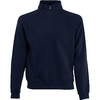 Fruit Of The Loom - Classic 80/20 Zip Neck Mens Sweatshirt - Sports - Workwear - Gym