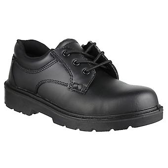 Amblers Safety Mens FS38C Metal Free Composite Gibson Lace Safety Shoe Zwart