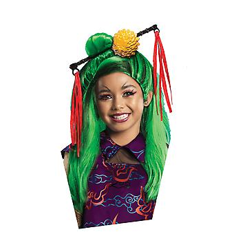 Girls Monster High Jinafire Wig Halloween Fancy Dress Costume Accessory