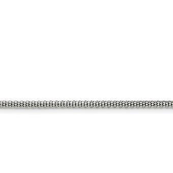 Acero Inoxidable Pulido Fancy Lobster Cierre 2.5mm Bismark Cadena Collar Joyería Regalos para Mujeres - Longitud: 20 a 30