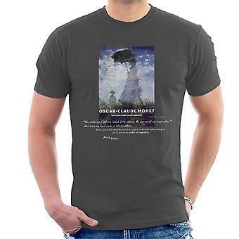 A. P. O. H Oscar Claude Monet natur citat mænd ' s T-shirt