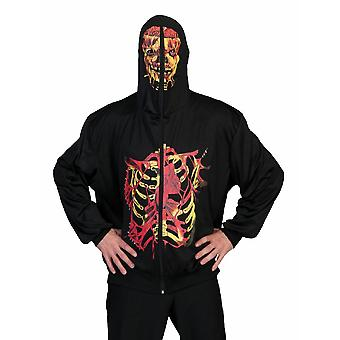 Skelett Knochen Halloween Mantel Herrenkostüm Gerippe Tod Knochengerüst Herren