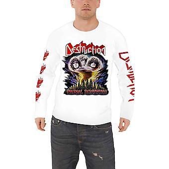 Destruction T Shirt Eternal Devastation new Official Mens White Long Sleeve