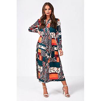 iClothing Nova Midi Shirt Dress In Multi Print-10