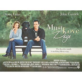Täytyy rakastaa koiria (kaksipuolinen) alkuperäinen elokuva juliste