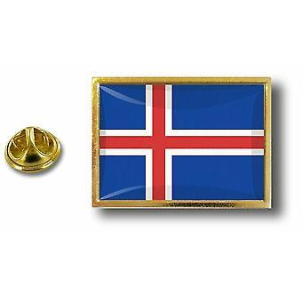 Pins Pin Badge Pin's Metal  Avec Pince Papillon Drapeau Islande Islandais