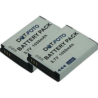 2 x Dot.Foto BenQ DLI-301, SLB-10 reemplazo de la batería - 3.7v / 1050mAh