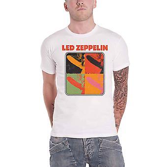 Led Zeppelin T Shirt LZ1 Pop Art Band Logo new Official Mens White