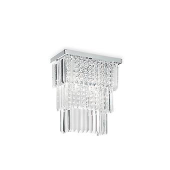Ideal Lux Martinez 3 Light Wall Light Chrome IDL166254