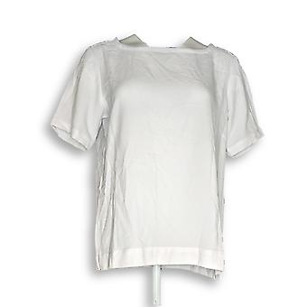 Linea by Louis Dell'Olio Women's Top Gauze Short White A290928