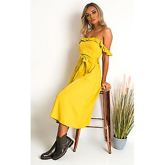 IKRUSH Womens Nikita Off the Shoulder Maxi Dress