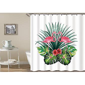 Flamingos In The Tropic Shower Curtain