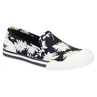 Rocket Dog Jazzin Slip Jazzy Ladies Cotton Trainers Black/floral