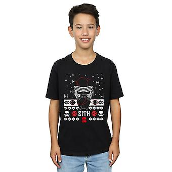 Star Wars Boys The Rise Of Skywalker Christmas Sith T-Shirt
