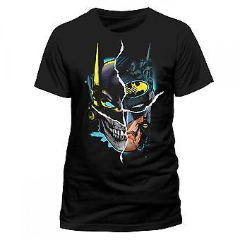 Batman Unisex aikuiset Gotham Face Design T-paita