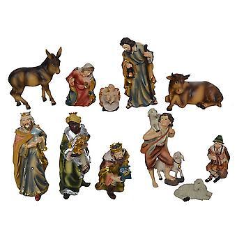 Nativity cijfers 11-pc's. Set van synthetische hars wieg cijfers JOEL 19 cm