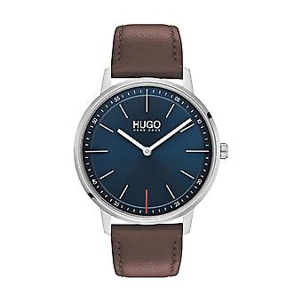 Hugo Watch 1530128 - Focus Multifunction Box Blue Steel Dial Blue Steel Blue Steel Bracelet Blue Men