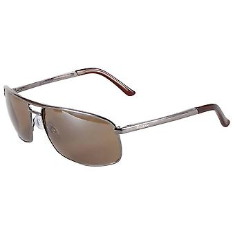 French Connection Metal Rectangle Sunglasses - Dark Gunmetal Grey