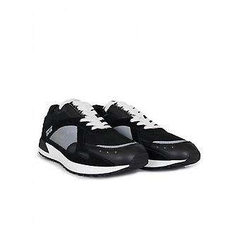 Versace Jeans Couture Footwear Mesh Leather Mix Logo Trainers