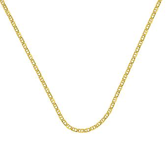 14k Yellow Gold 3.7mm Mariner Chain Necklace Lobster Claw Closure Jewelry Gifts for Women - Length: 18 to 30