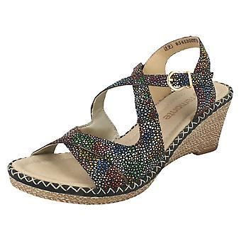 Дамы Remonte клин пятки сандалии D6739