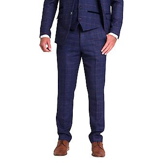 Marc Darcy Harry Indigo Blauwe Tweed Broek