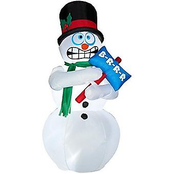180cm Inflatable Shivering Snowman