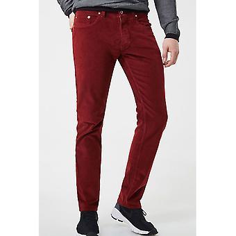 Straight cut corduroy trousers