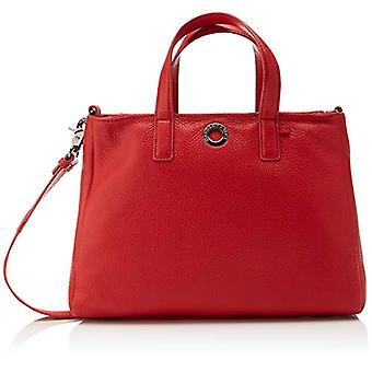 Mandarina Duck Mellow Leather Borsa a Tracolla Donna Rosso (Flame Scarlet) 12x19x28 cm (W x H x L)
