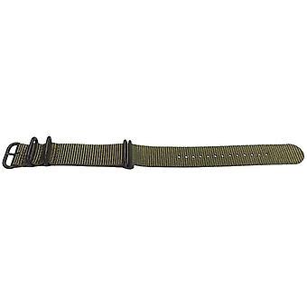 N.a.t.o zulu g10 stil klocka rem armé grön 5 ring med svart spänne 20mm,22mm,24mm