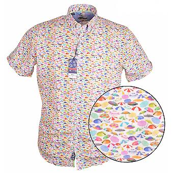 DARIO BELTRAN Dario Beltran Umbrella Print Short Sleeve Shirt