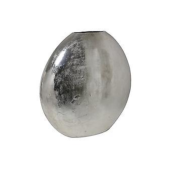 Light & Living Vase Deco 53x7x53cm Positano Oval Flat Raw Nickel