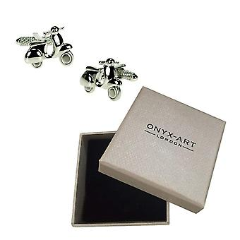 Vespa Cufflinks by Onyx Art - Gift Boxed - Mod Scooter Moped CK386 Cuff Links