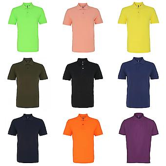 Asquith & Fox Mens Plain Kurzarm Polo-Shirt