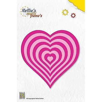 Nellie's Choice Multi Frame Die - basic heart MFD060
