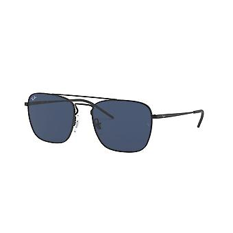 Ray-Ban RB3588 901480 Rubber Black/Blue Sunglasses