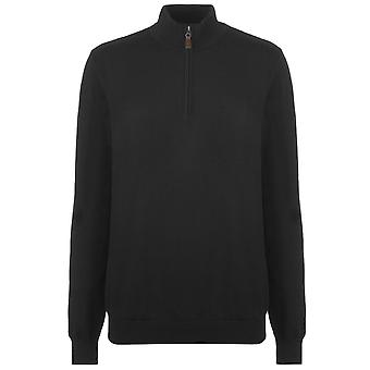 Footjoy Mens Half Zip Knit Pull Pull Jumper Lightweight Top