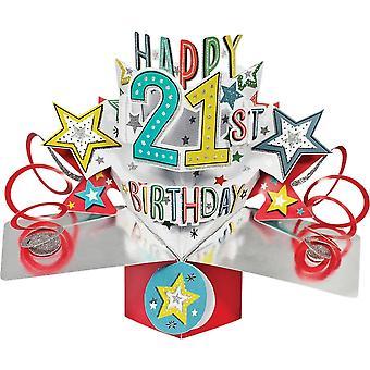 Second Nature Pop Ups Card Happy 21st Birthday