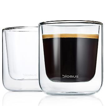 Blomus Thermo Glasses Coffee Glasses NERO 2-Piece Set
