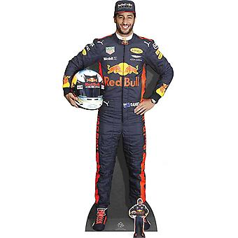 ダニエル ・ リカルド式 1 つのレース ドライバー段ボールの切り抜き/明かり取り