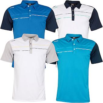 Ping Collection Mens 2020 Newton Short Sleeve Wicking Golf Polo Shirt