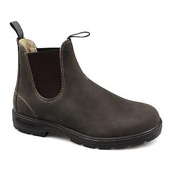 Blundstone 584 رجال بريميوم Nubuck ماء تشيلسي الأحذية ريفي براون