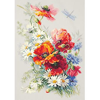 Magic Needle Cross Stitch - Poppies and Daisies