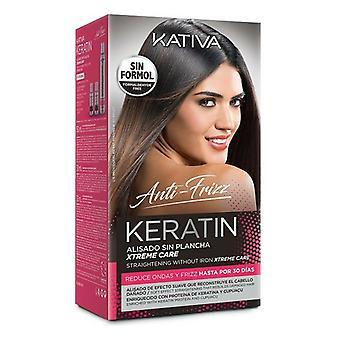 Hair Straightening Treatment Keratin Anti-frizz Xtrem Care Kativa (3 pcs) Damaged hair