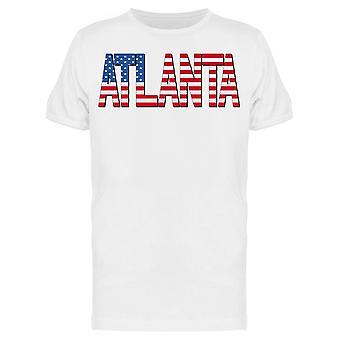 Atlanta Flag Us Tee Men's -Afbeelding door Shutterstock