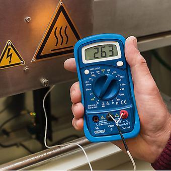 Draper 16 Function Digital Multimeter - Electrician Testing Equipment - 52320