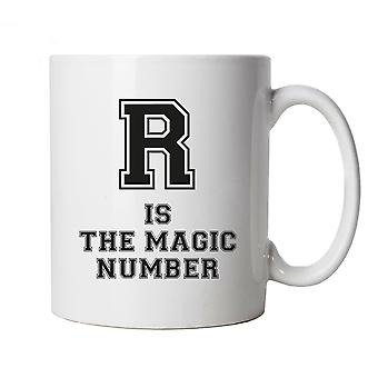 R Is The Magic Number Mug Cup Gift Lockdown, Quarantine, Social Distanciation