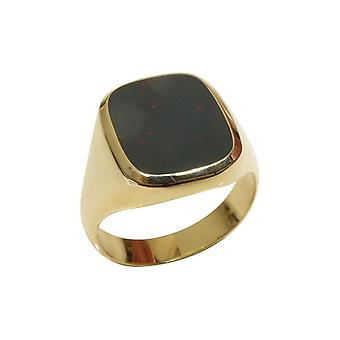 Gold seal ring with heliotrope