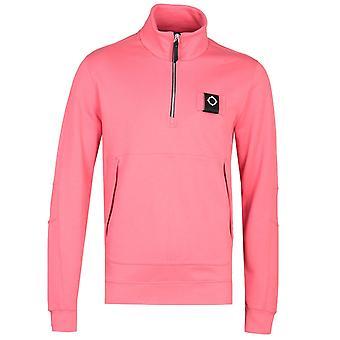 MA.Strum Dark Cayenne Red Zip Neck Training Sweatshirt