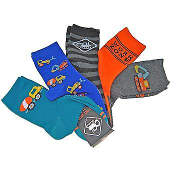 Chaussettes 5 paquets - Véhicules, 31-33